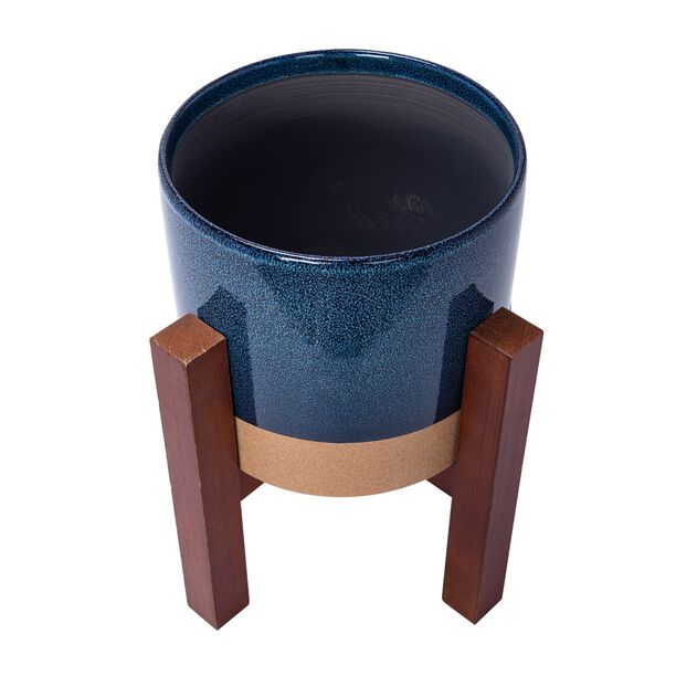 """Ceramic Planter With Stand 9.5"""" image number 2"""