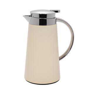 Dallety Plastic Vacuum Flask Pipe Chrome/Beige 0.7L
