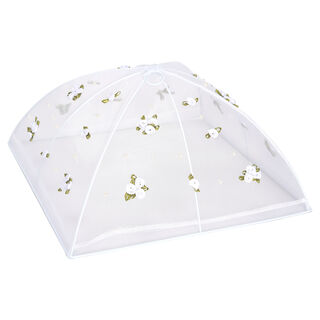 Chef Classics Fold Able White Food Cover With Roses