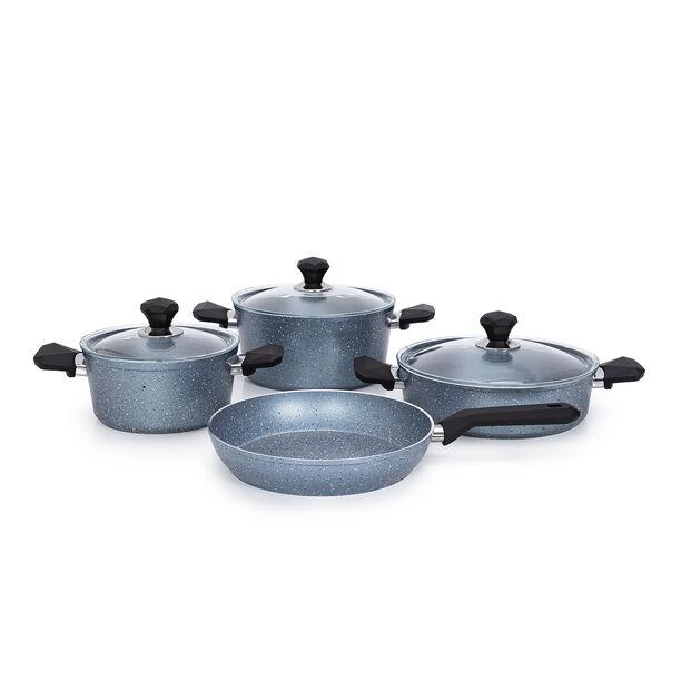 Pentola 7 Pieces Granite Cookware Set Blue image number 1