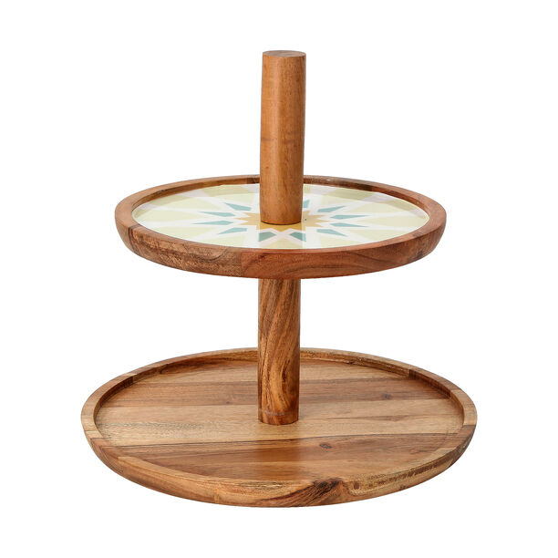 Arabesque 2 Tier Serving Stand Top image number 1