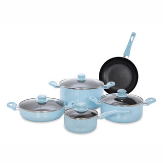 Alberto Non Stick Cookware Set 9 Pieces Blue
