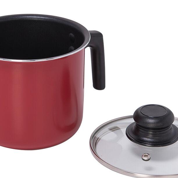 وعاء لغلي الحليب لون أحمر image number 2