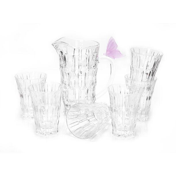 La Mesa 7 Pieces Pink Butterfly Jug Set  image number 0