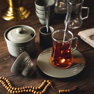 28 PcsTea and Coffee Set Ancient Porcelain Gray