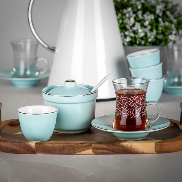 Tea And Coffee Set Of 20 Pieces Light Blue image number 3