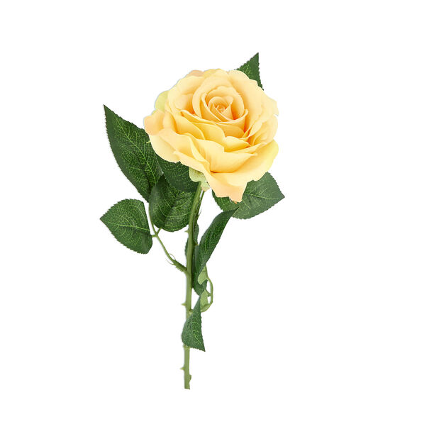 Artificial Flower Rose Light Yellow image number 1