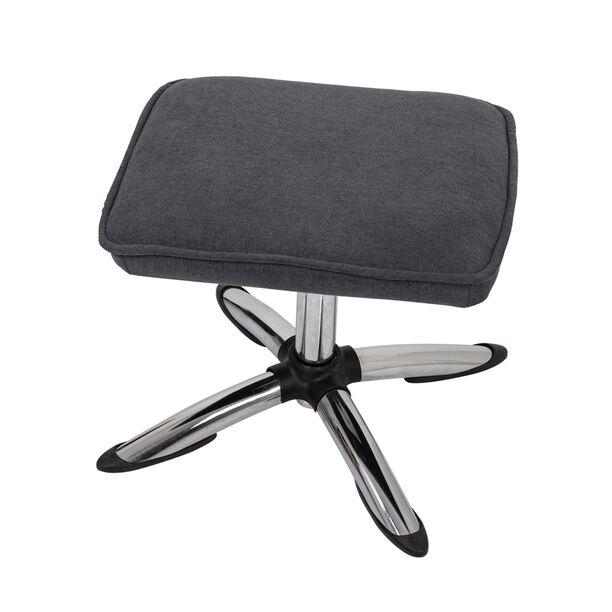 كرسي مكتبي مع مسند إضافي لون رمادي غامق image number 3