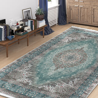 Cottage Silky Carpet Velvet Ice Blue 80X150