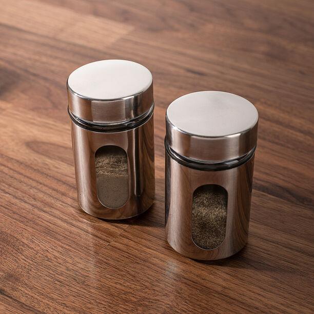 Alberto 2 Pieces Metal Salt And Pepper Set image number 3