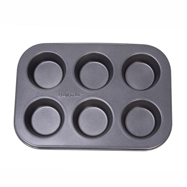 Betty Crocker Non Stick Muffin Pan 6 Cup Grey Color image number 1