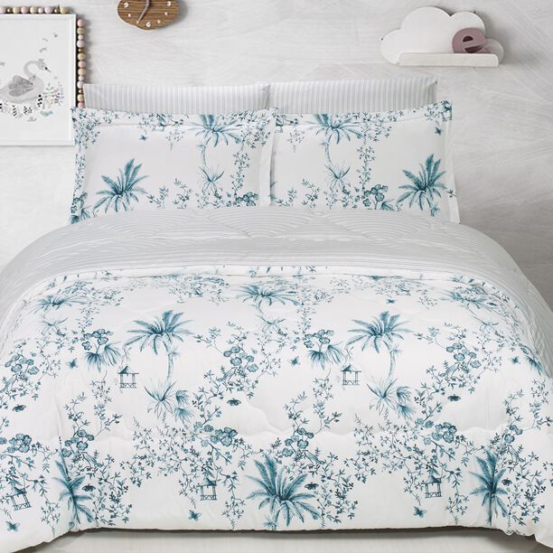 Yaprak Microfiber Comforter Set King Size 5 Pieces image number 1
