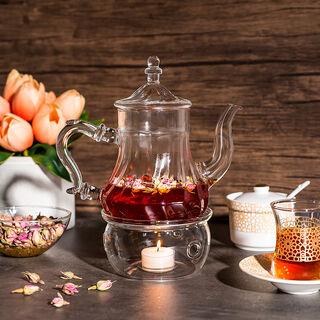 ابريق شاي زجاج مقاوم للحرارة 750مل