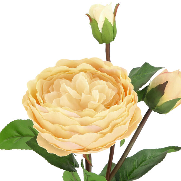Artificial Flower Rose Champagne image number 2