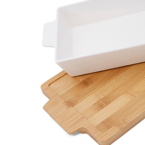 La Mesa Oven/Serving Rectangle Plate With Bamboo image number 2