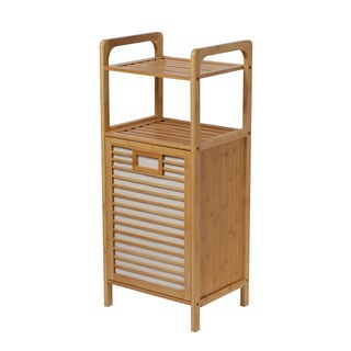 Bamboo Laundry Basket With Rack