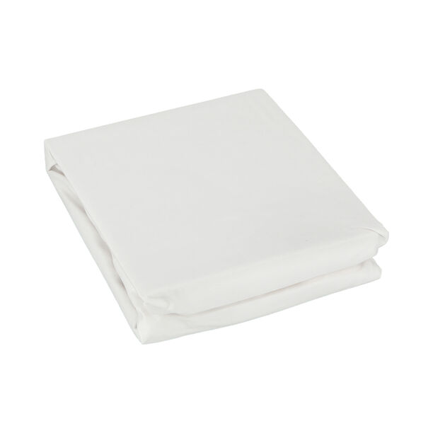 Fitted Sheet 180*200+35 White 100% Cotton image number 1