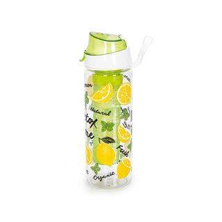 Herevin Plastic Sports Bottle With Infuser V-0.75L -Lemon Detox Design