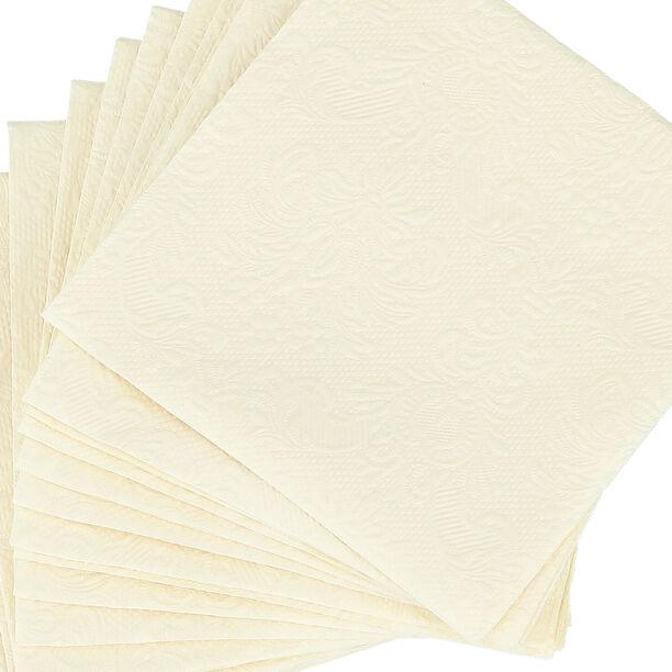 Elegance Serving Napkins Paper Square Cream image number 2