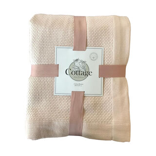 Cottage Cotton Blanket King 240X220 Cm Daily Powder