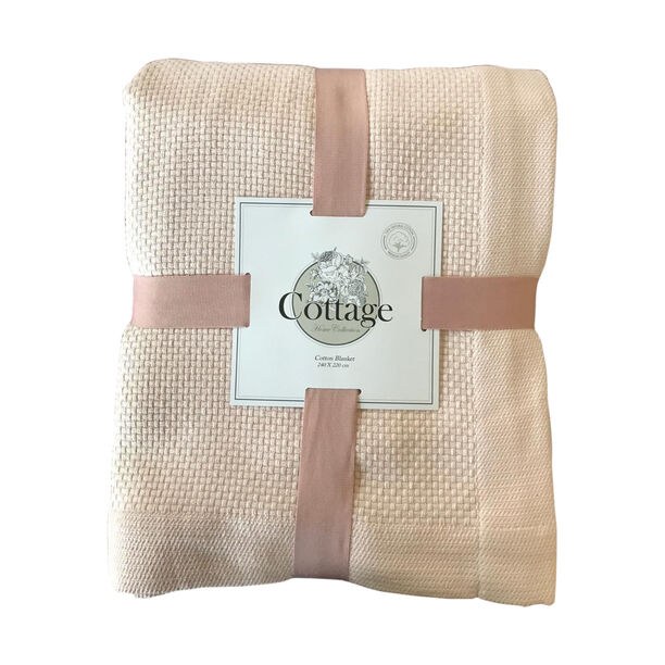 Cottage Cotton Blanket King 240X220 Cm Daily Powder image number 0