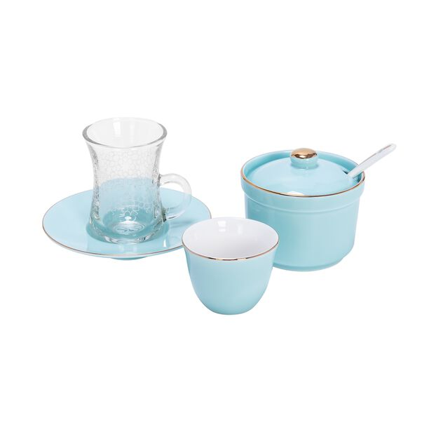 Tea And Coffee Set Of 20 Pieces Light Blue image number 1