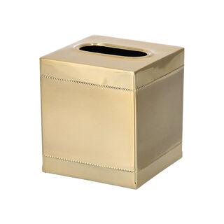 علبة مناديل زجاج لون ذهبي