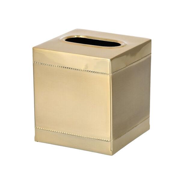 Crackle Bath Tissue Box Gold image number 0