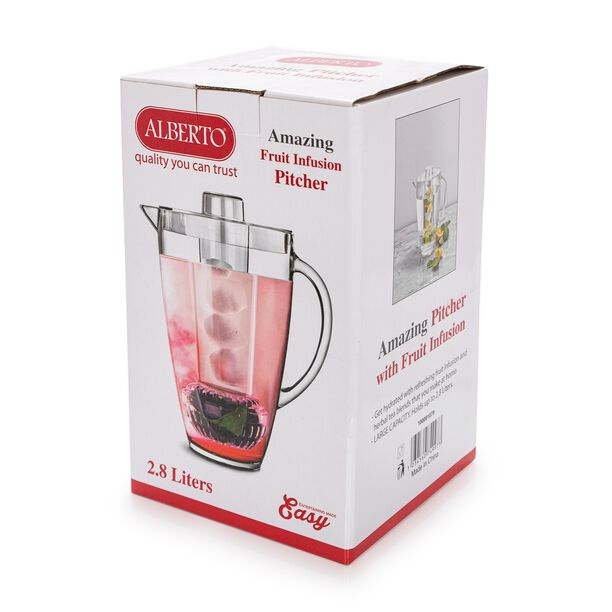 Alberto Acrylic Pitcher With Ice Tube V: 2.5 L image number 4