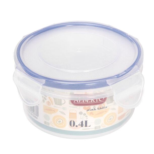 حافظة طعام بلاستيك دائرية سعة 0.4 لتر من البرتو image number 1