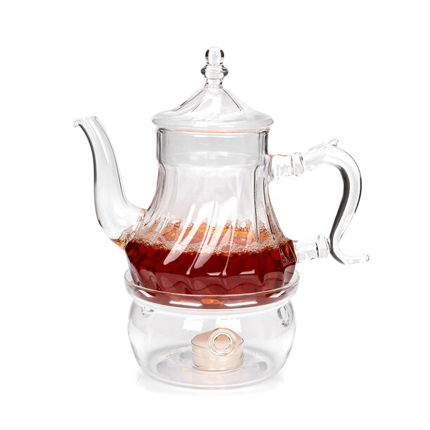 ابريق شاي زجاج مقاوم للحرارة 750مل image number 1