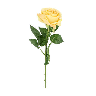 Artificial Flower Rose Light Yellow