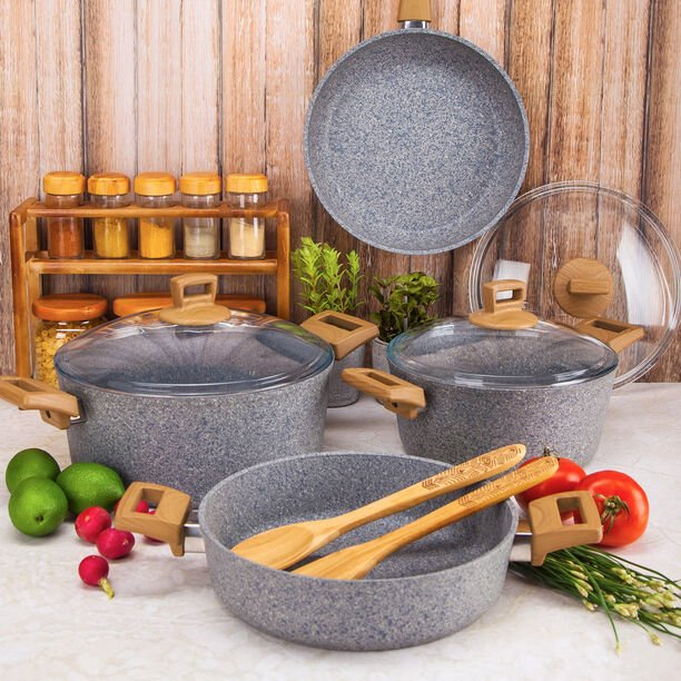 Alberto Granite Cookware Set Of 7 Pieces image number 1
