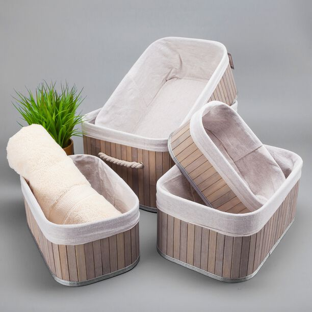 Natural Bamboo Basket Set 5 Pisces image number 4