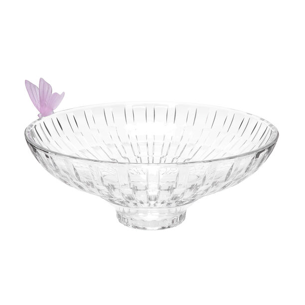 Glass Butterfly Bowl 1 Pc Crystal Pink image number 0