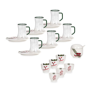 18 Pcs Arabic Tea And Coffee Set Porcelain Arabgraph