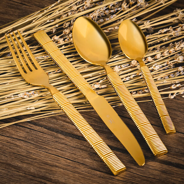 Heide 16 Pcs Cutlery Set Shiny Gold image number 0