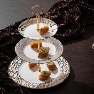 La Mesa 3 Tiers Porcelain Dessert Serving