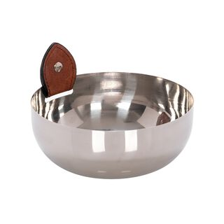 Steel& Leather Bowl