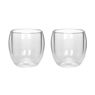 Mug Set 2 Pieces Double Wall Plain 300Ml Veer