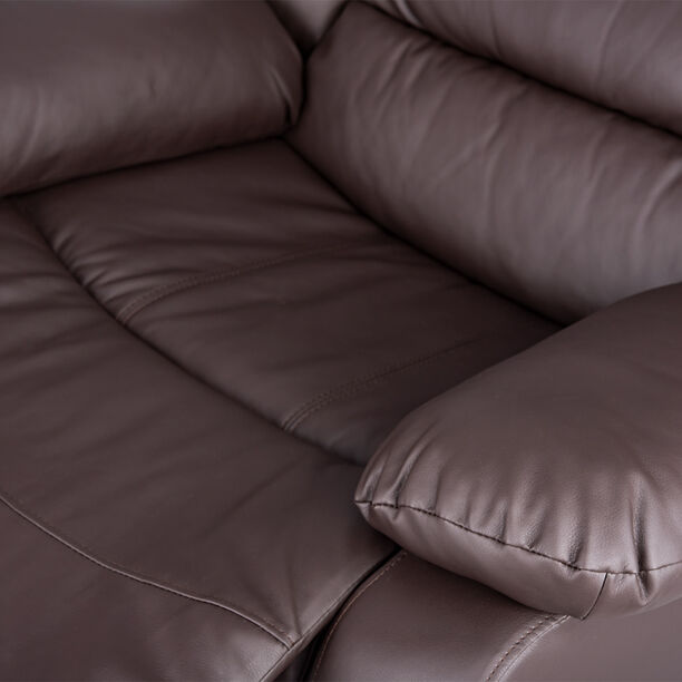 Rocking Recliner Chair Leather Brown image number 4