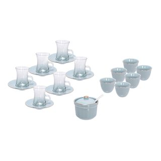 Arabic Tea Glass Set 20 Pieces Tiffany Color