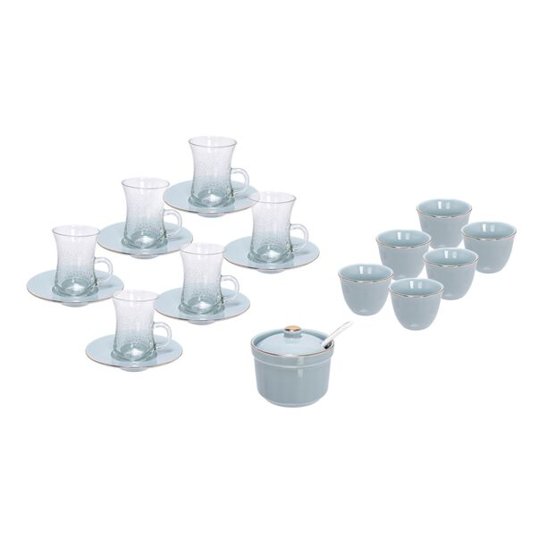 Arabic Tea Glass Set 20 Pieces Tiffany Color image number 0