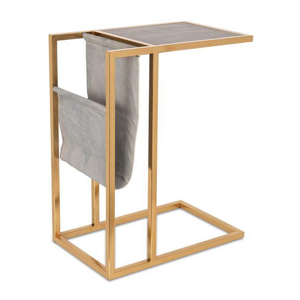 طاولة جانبية من المعدن و الخشب  image number 0