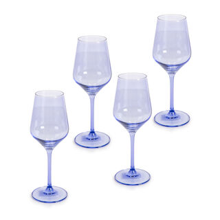 Rio Blue 4 Pieces Set Stem Juice Glass