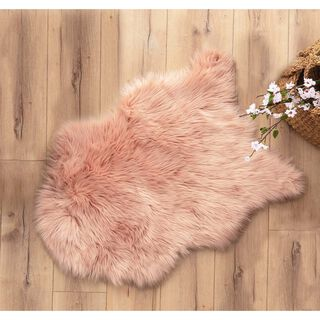 Cottage Faux Fur Powder Pink 80X150 Cm