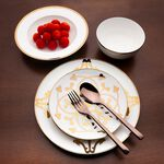 La Mesa Porcelain Dinner Set 16 Pieces Gold image number 2