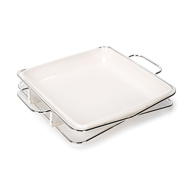 Square Plate With Stand image number 0