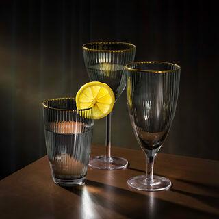 La Mesa 4 Pieces Glass Juices Goblets Black