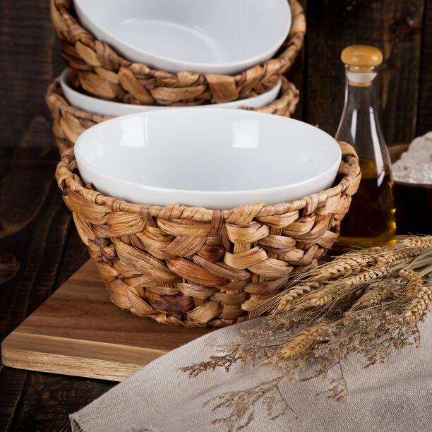 La Mesa Oven/Serving Bowl With Rattan Basket image number 1